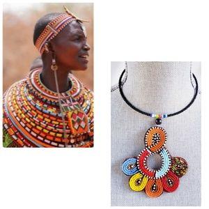 Jewelry - African Zulu Beaded Communication Choker Necklace